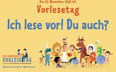 """bundesweiter Vorlesetag 2020 """"Europa und die Welt""""."""